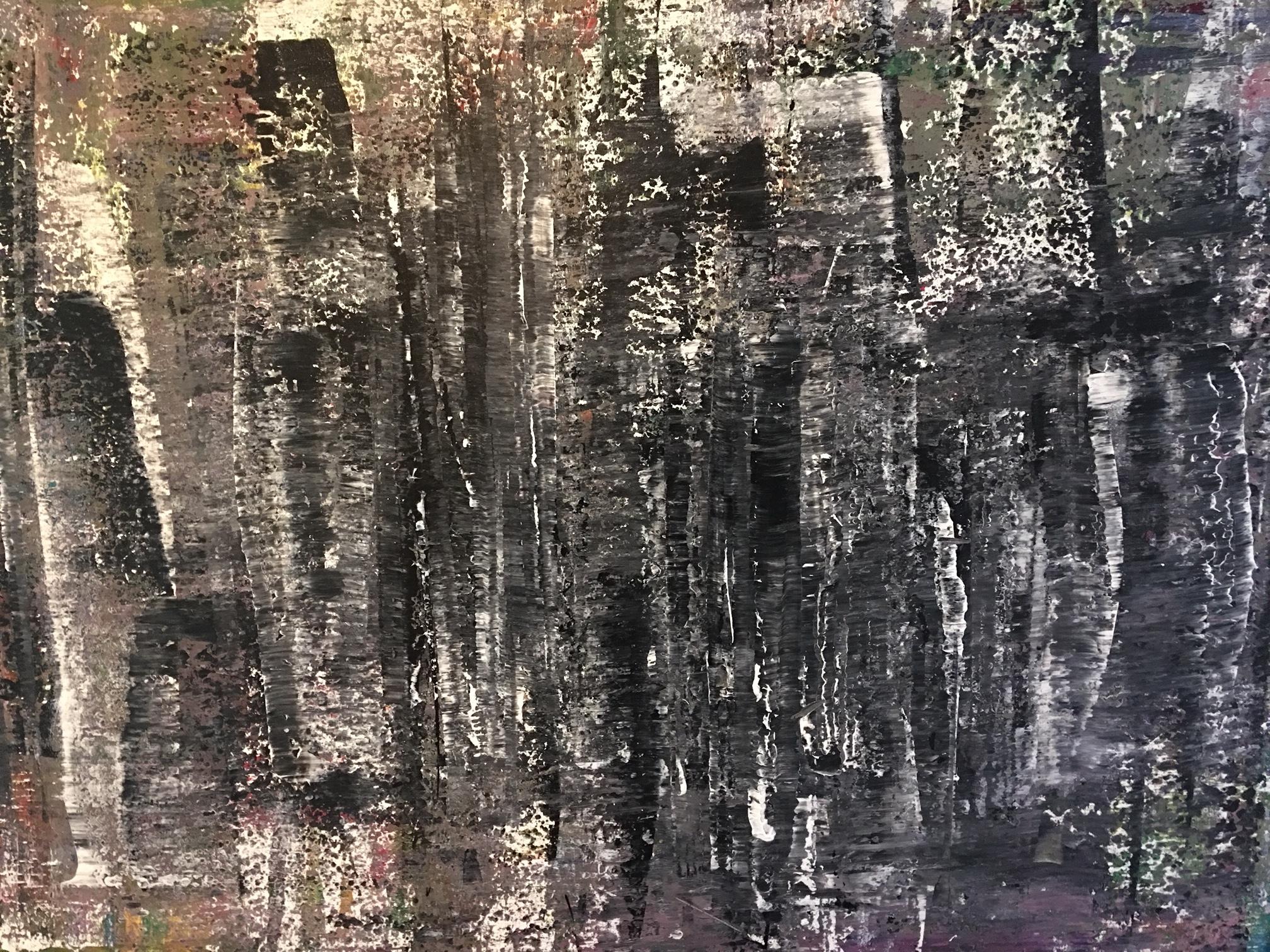 """2014. Acrylic on Canvas, 36"""" x 48""""."""