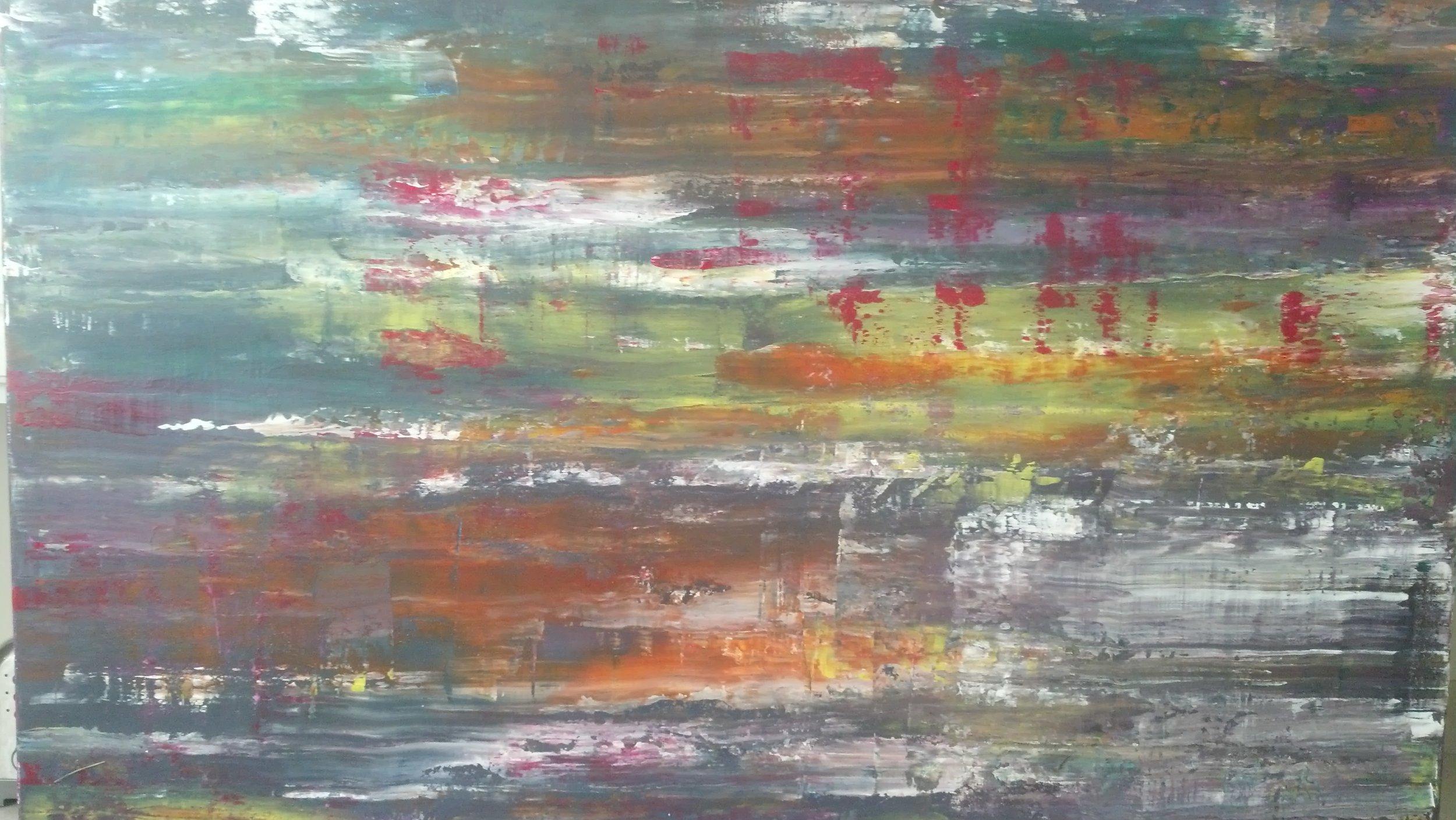 """2014. Acrylic on Canvas 48"""" x 36"""""""