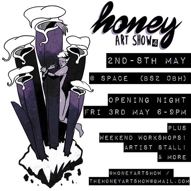 So excited to be a part of @honeyartshow  for the second time. Head on down to @spaceoldmarket to see what all the incredible creatives have conjured up and the vulvas I've created this time! #exhibition #art #vulva