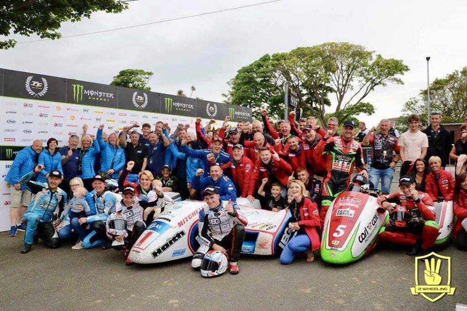 The TT 2018 Winners Enclosure: Identical finishing lineup for Races 1 & 2!