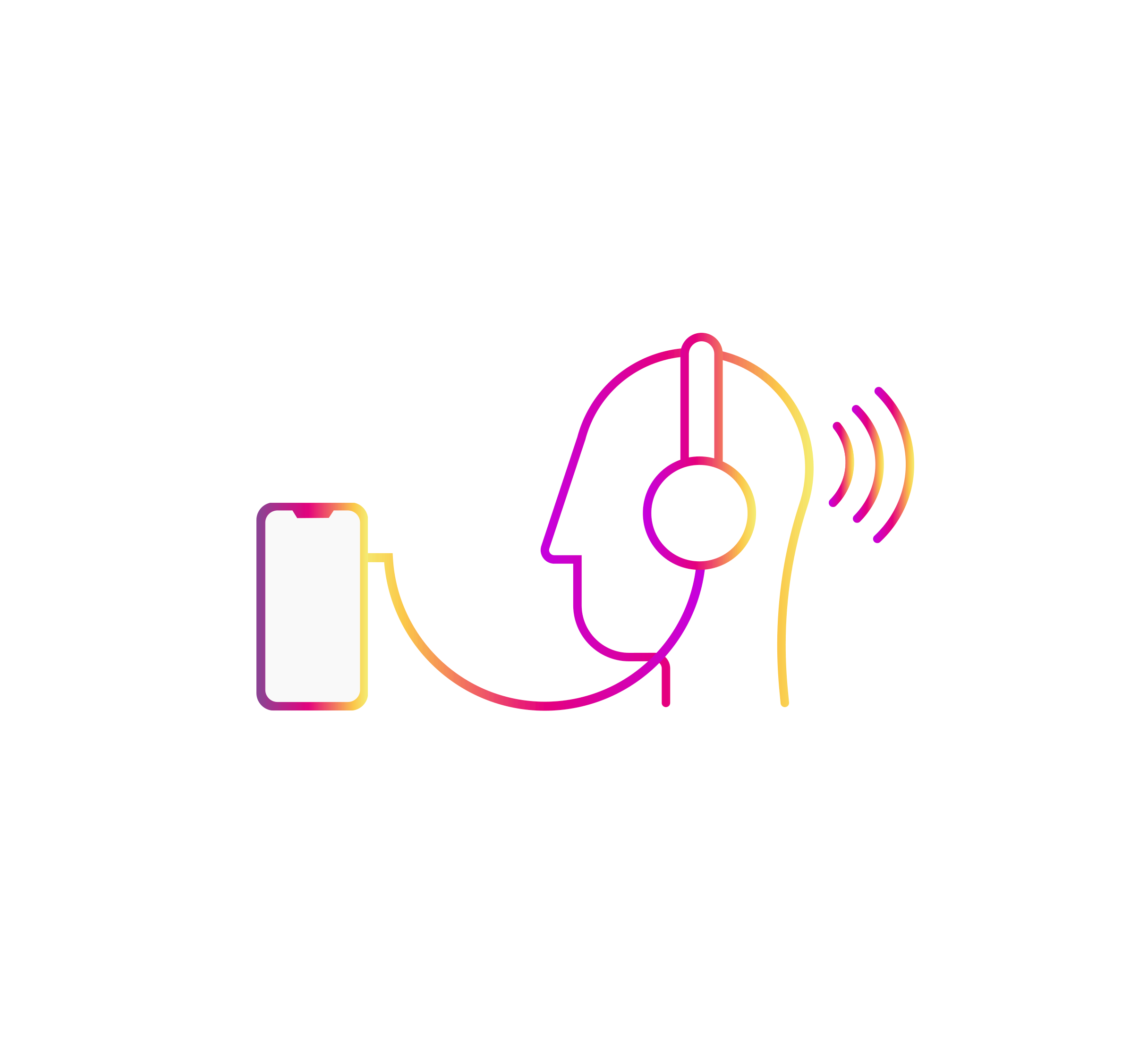 Creating noise pollution - The aim was to push the sensory audio experience as far as possible and evoke a sense of complete urgency, stress and discomfort to the user, mirroring the distress of mental health diagnosees'.