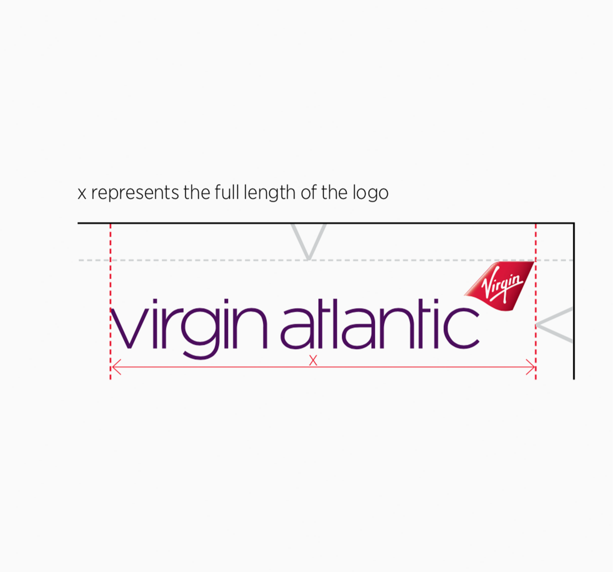 Brand guidelines - Within the guidelines there are specific sizes and safe areas around the logo. The document also details font usage, images, colour codes and illustration styles. My aim was to push the creativity as far as possible while still adhering to the Virgin Atlantic brand guidelines.