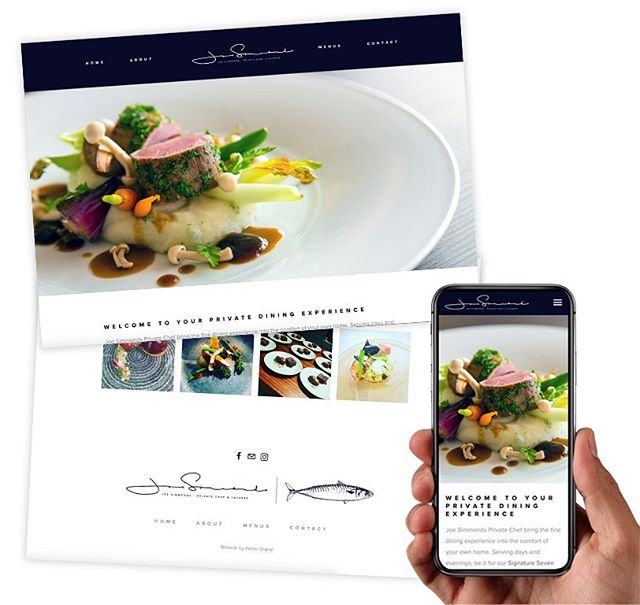 New Site launch for @joesimmondsprivatechef featuring sample menus and availability calendar. One of the best chefs in the southwest and he's available to cook in your own home! Thanks to @james_mcewan_design for the branding! . . . #newwebsite #website #business #localbusiness #privatechef #cornwall #bude #finedining #squarespace #availabilitycalendar #branding #logo