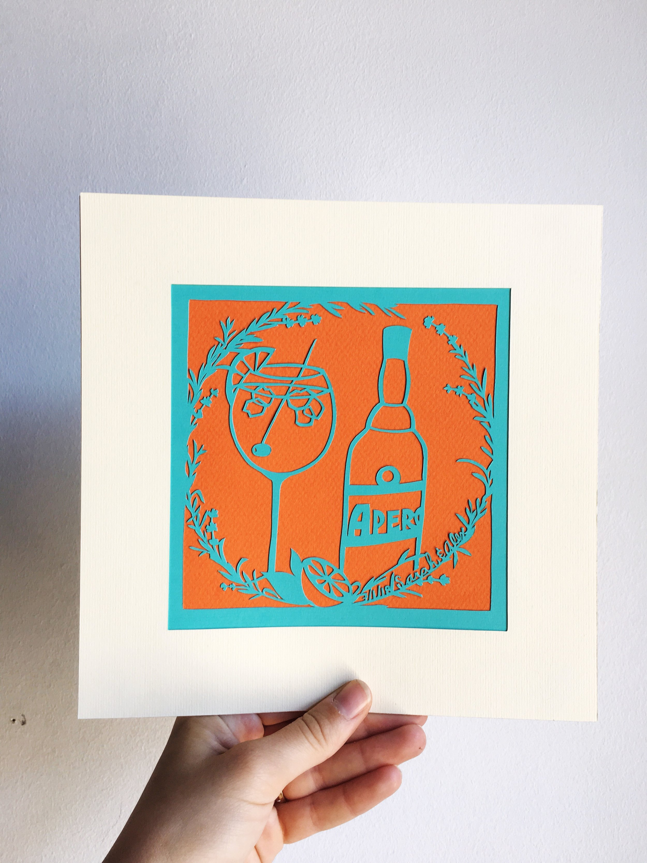 Paper art commission (2018).