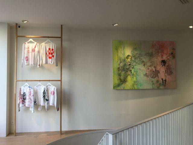 Installations, Inauguration de la boutique Agnès b. Beaumarchais