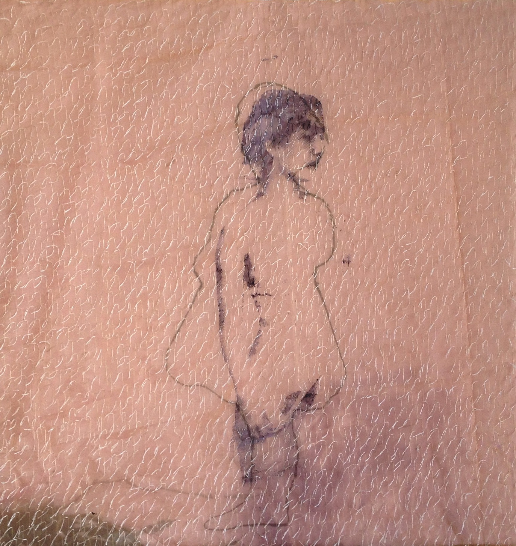 Nude alice in a pink dress