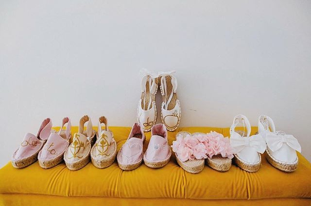 Our lovely W E D D I N G edition for bride and bridesmaids 💍 #wedding #weddingshoes #espadrilles #bride #bridesmaids