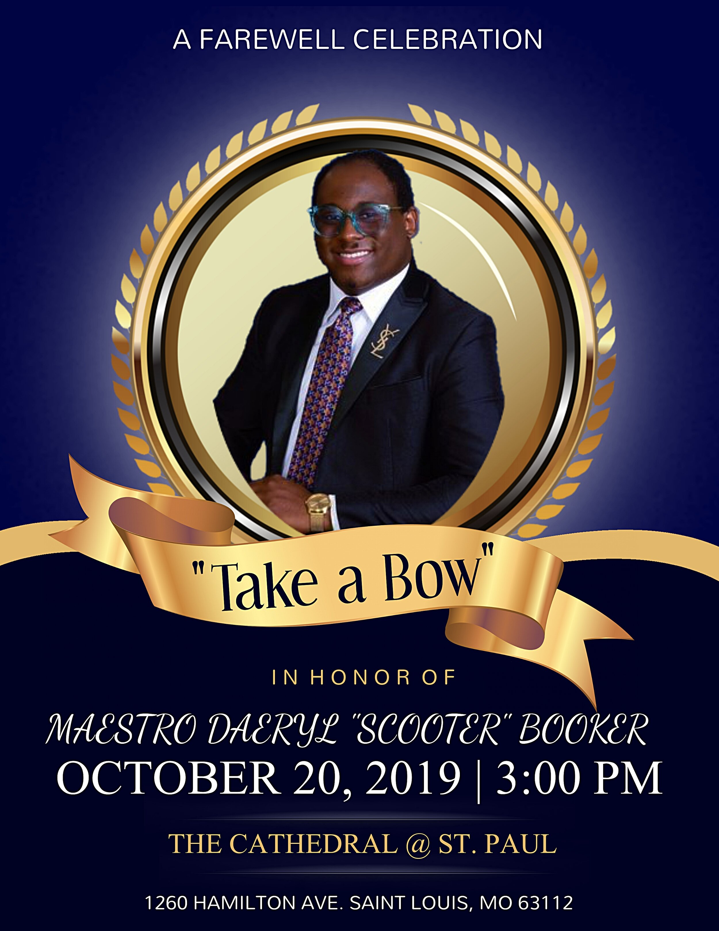 Celebrate And Bid Farewell To Maestro Daeryl Scooter Booker The Cathedral St Paul Ame Church