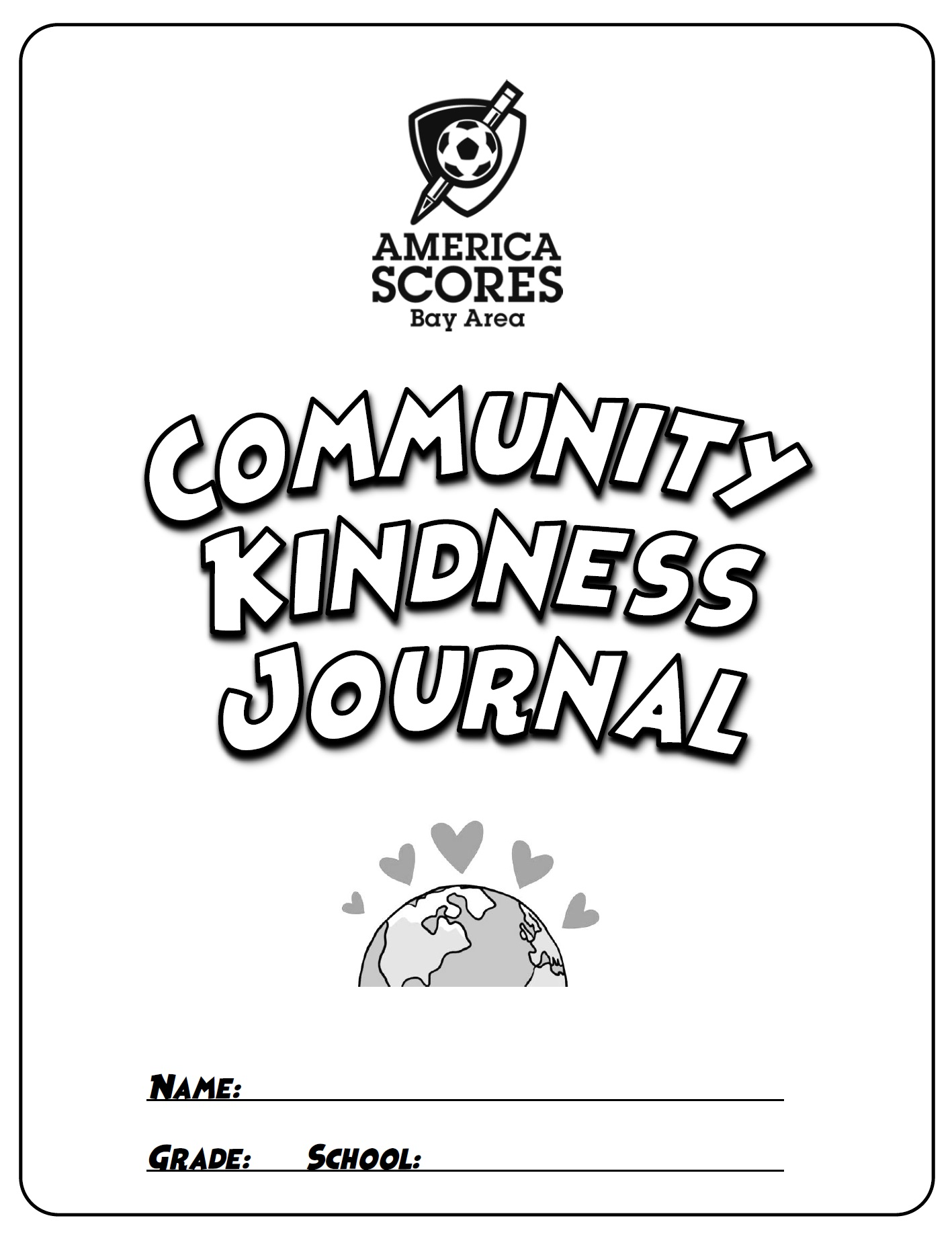 View or download the Community Kindness Journal workbook (1st-5th Grade)