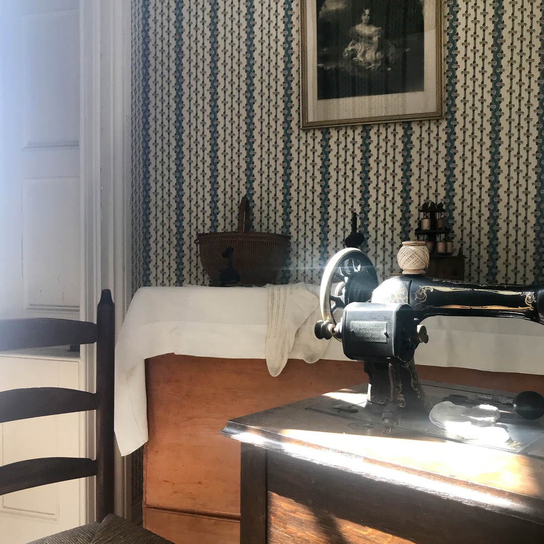 The sewing room on the second floor