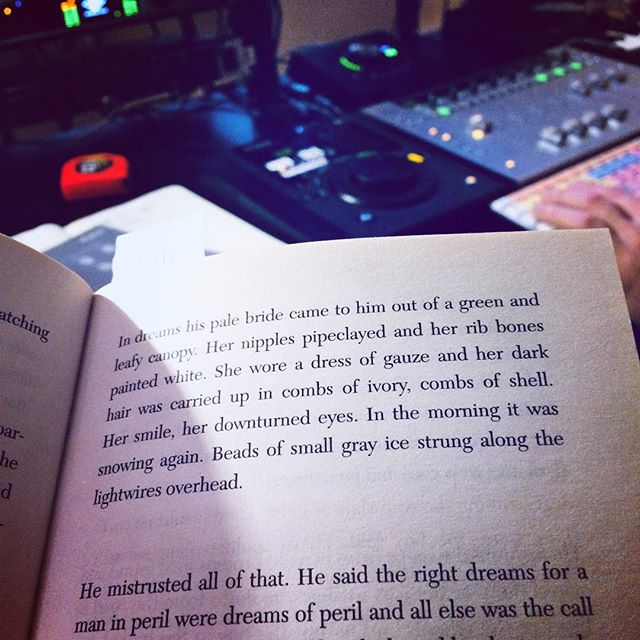 Cormac McCarthy's The Road joins Cursor Major in the studio with @timothy_james_allen