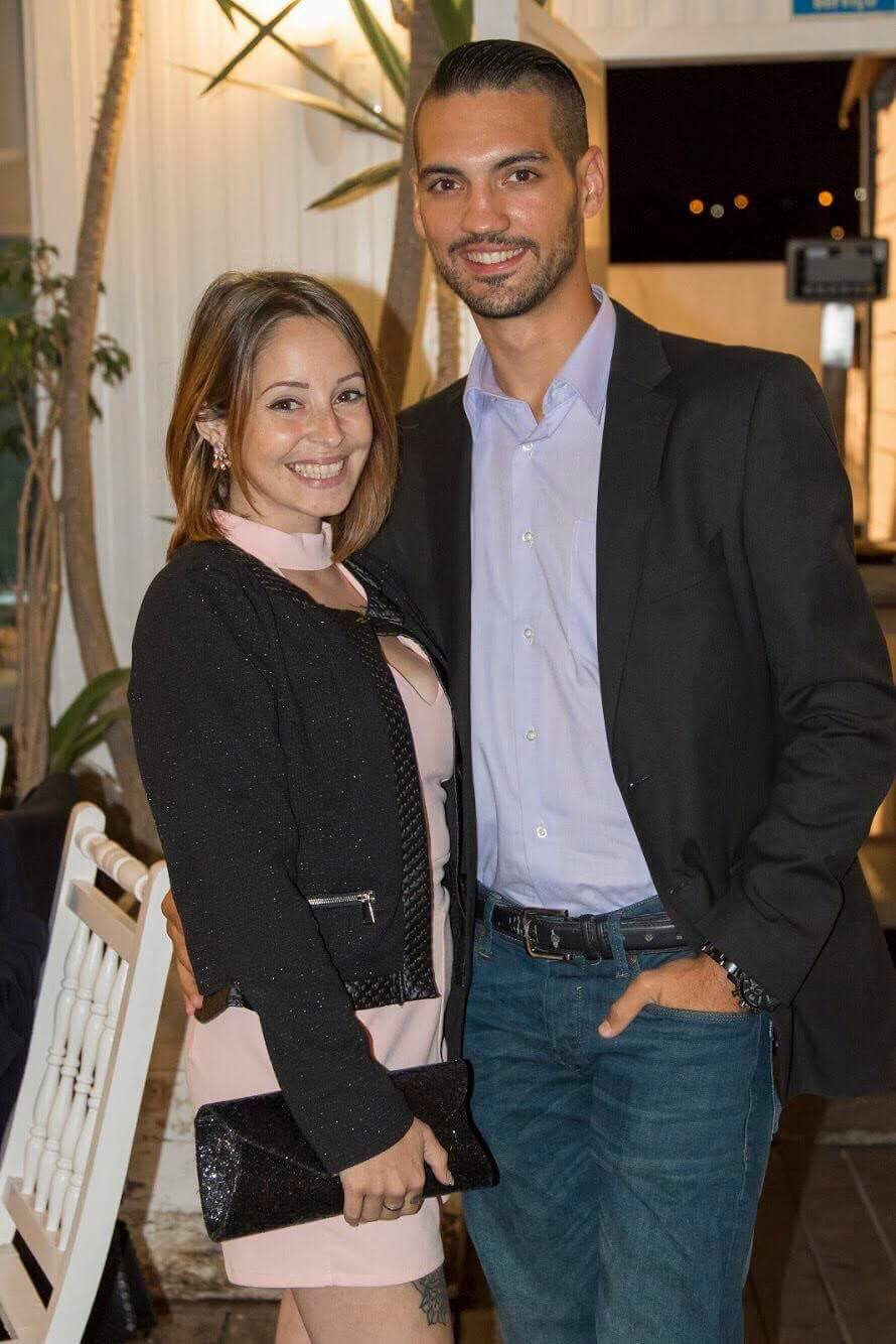 Liliana Batista e o namorado