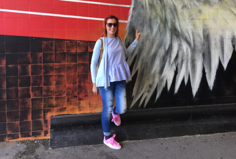Marina Ferraz no Estádio da Luz