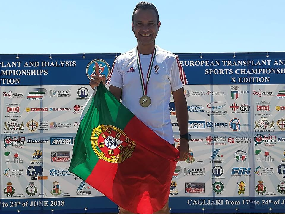 Conquista do 1º lugar nos 5000 metros marcha no Europeu para Transplantados e Dialisados.