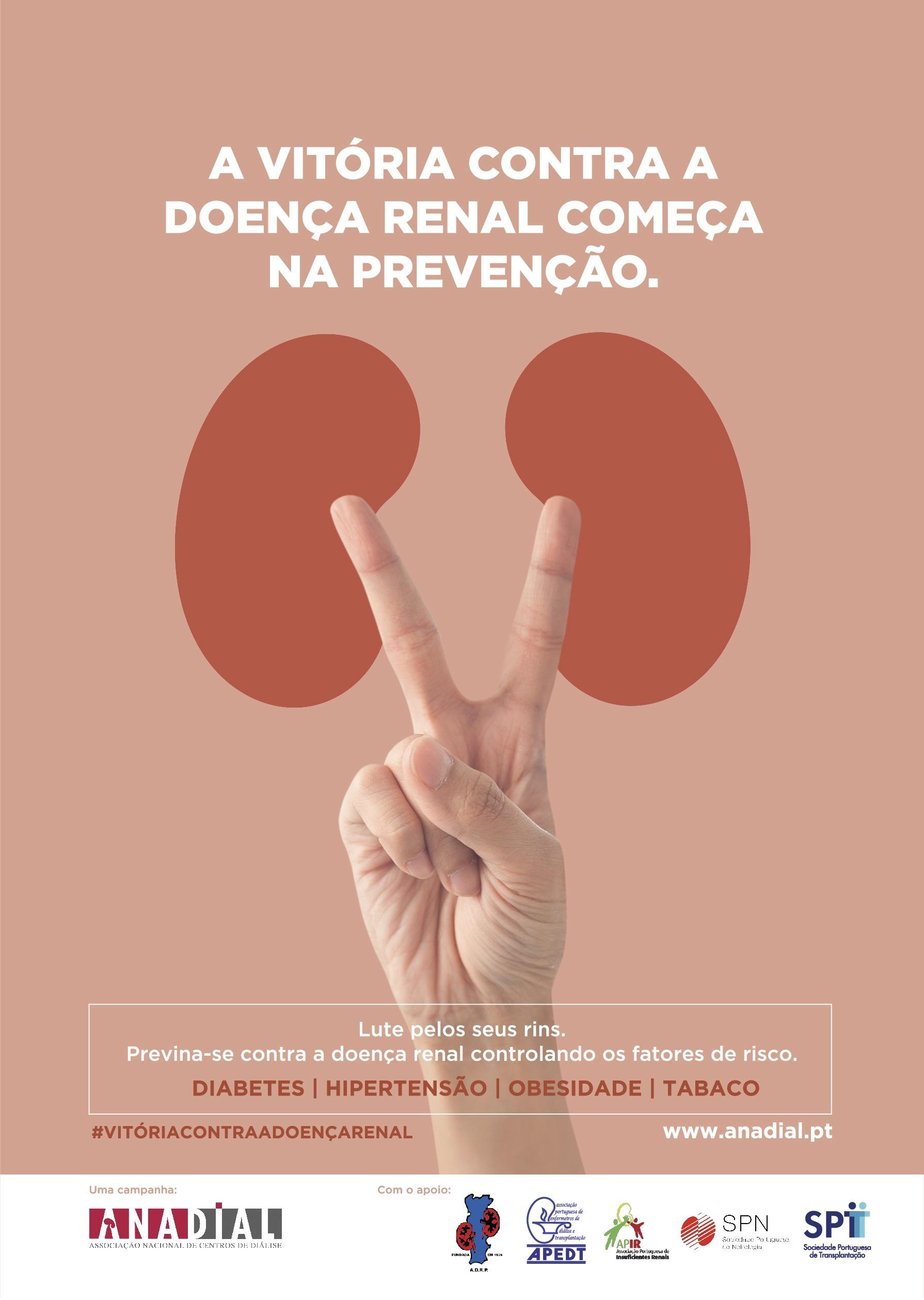 """""""A vitória contra a doença renal começa na prevenção"""""""