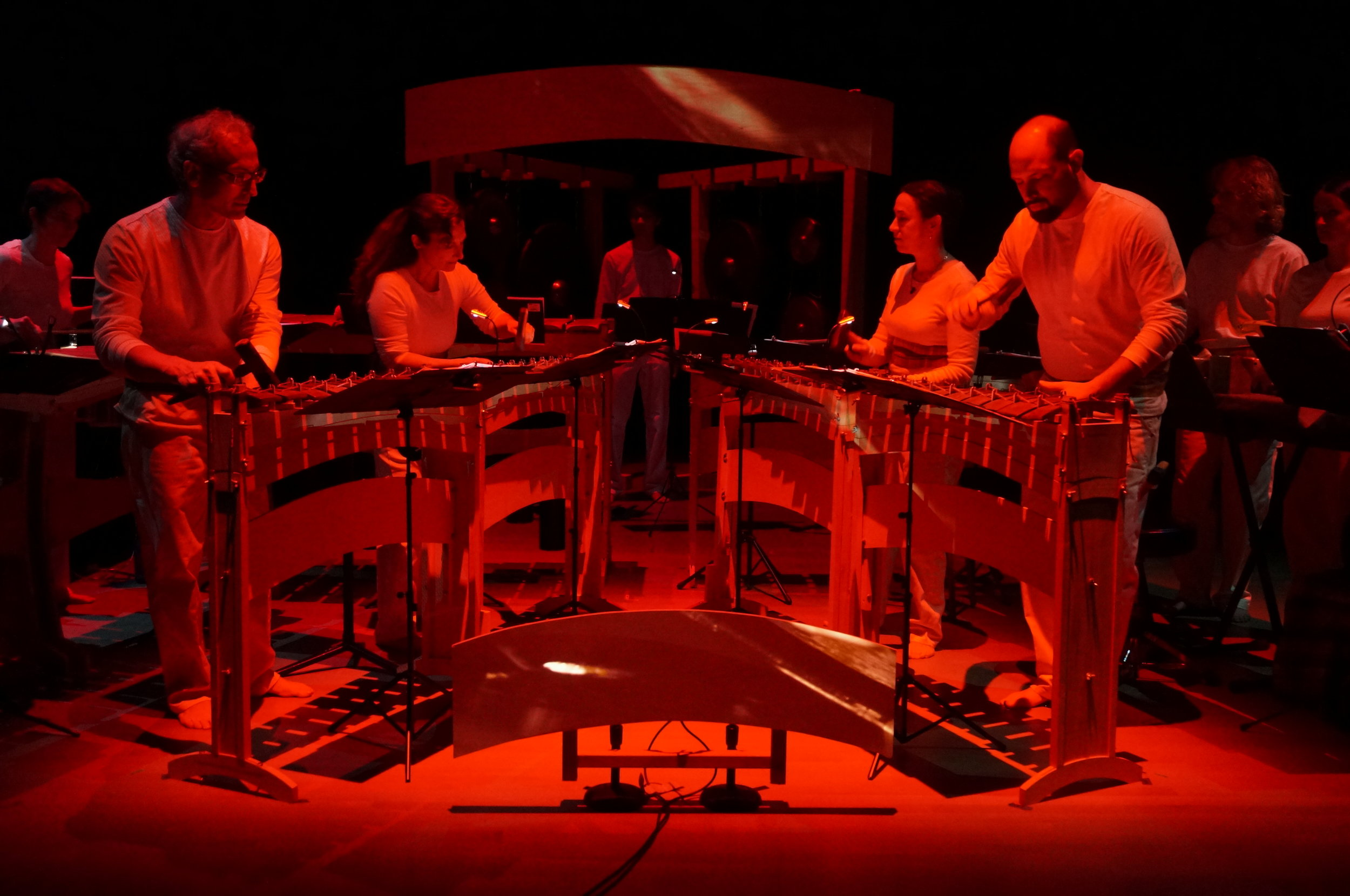 The Lightbulb Ensemble - Performing Mikrokosma, co-composed by Vitale and Brian Baumbusch, at the Yerba Buena Center for the Arts, 2015