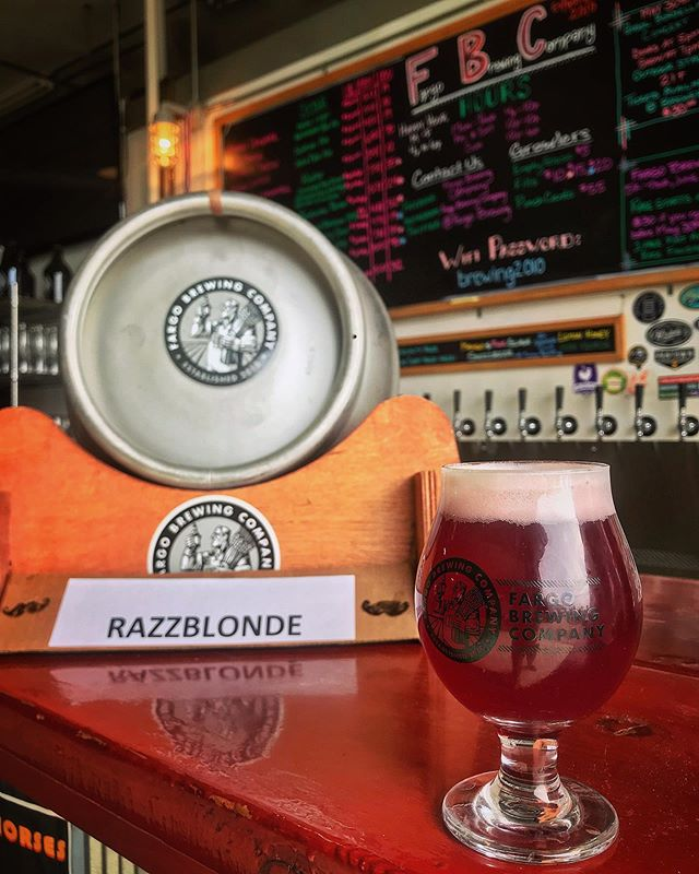 Tonight only at The Brewery we have a Razzblonde Cask tapped for American Craft Beer Week!  We also have the Lemon Honey Iron Horse & Mango Pink Guava Snozzbeer still on tap so join us tonight and celebrate beer! . . . . . . . #supportlocalcraftbeer #fargobeer #localbrewery #fargobrewingcompany #americancraftbeerweek #drinklocal #raspberryblonde #caskbeer