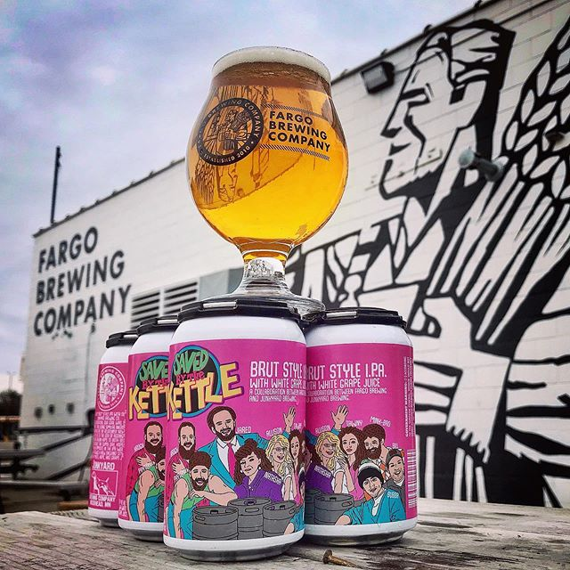 It's Saved By The Kettle release day! Saved By The Kettle is the 2nd release in our collaboration with @junkyardbrewing ! This Brut Style IPA is brewed with Nelson Sauvin and Waimea hops and a new hybrid yeast that helped achieve a super dry, effervescent and refreshingly crisp beer that epitomizes what a Brut Style IPA is all about! Save By The Kettle is available on tap at both The FBC Taproom & @thefbcalehouse and available for sale in cans to take and enjoy at home!  The 1st release, Full Brewhouse, is still available at Junkyard so come celebrate this great collab with us!