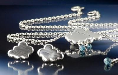 Silver Rain Cloud Necklace
