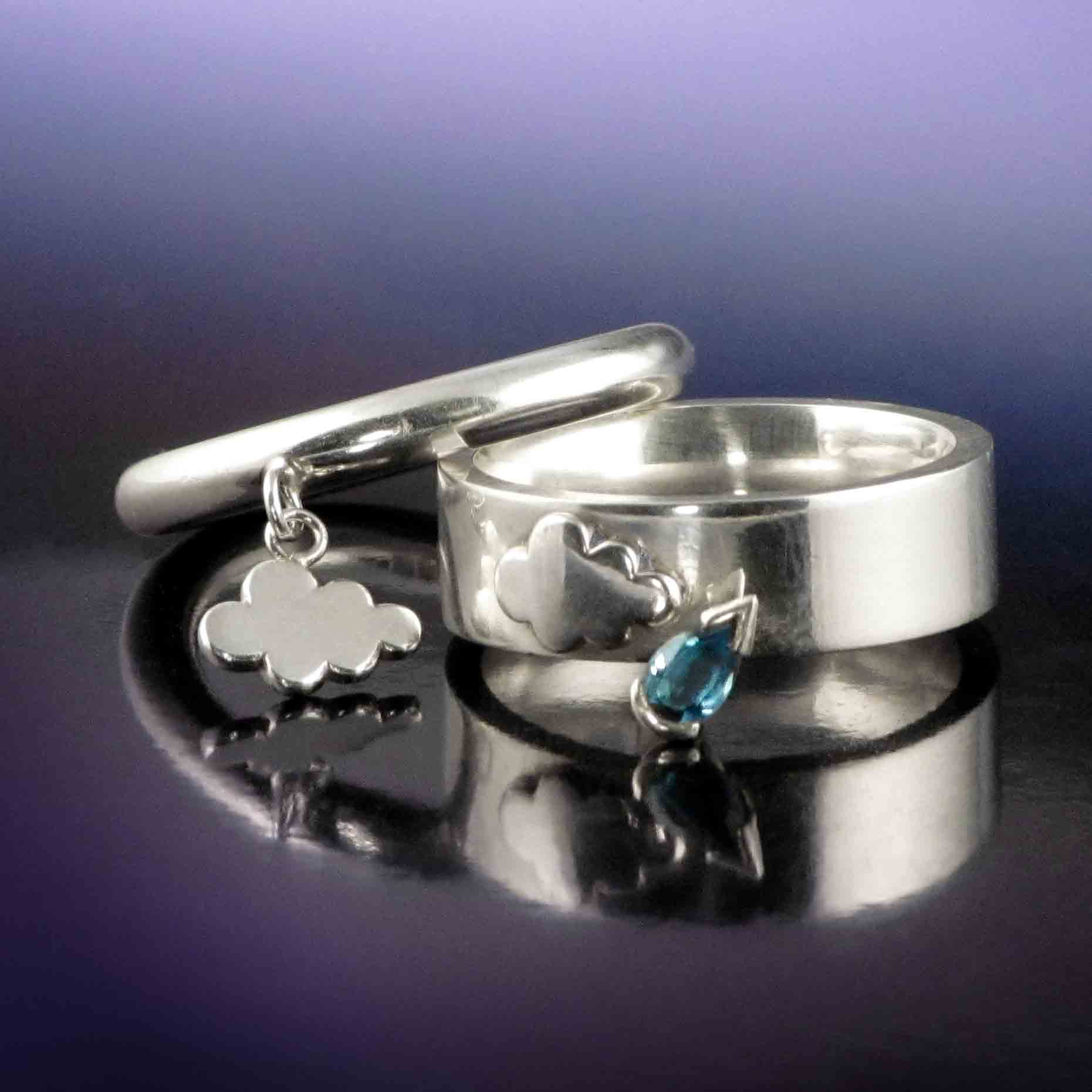Silver cloud and rain rings