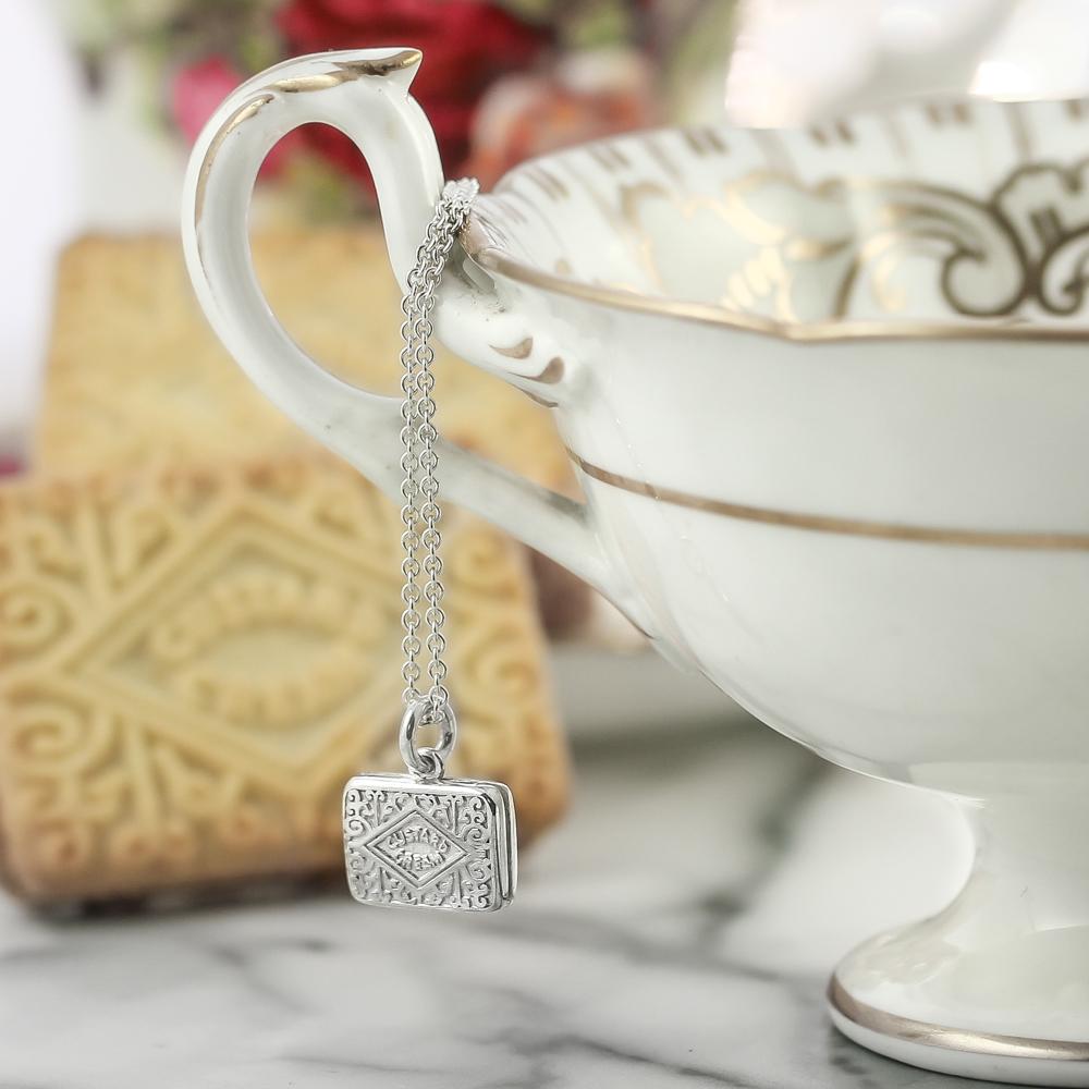 Sterling silver custard cream necklace original design