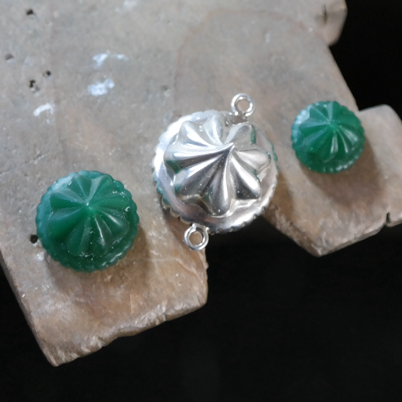 Silver iced gems wax carving