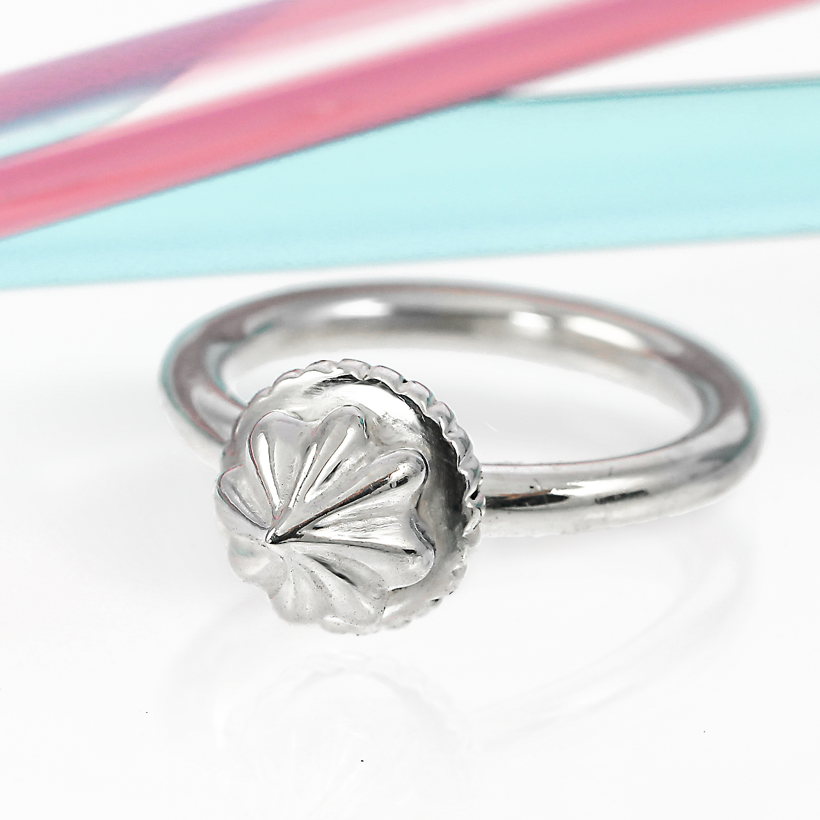 Sterling silver iced gem stacking ring