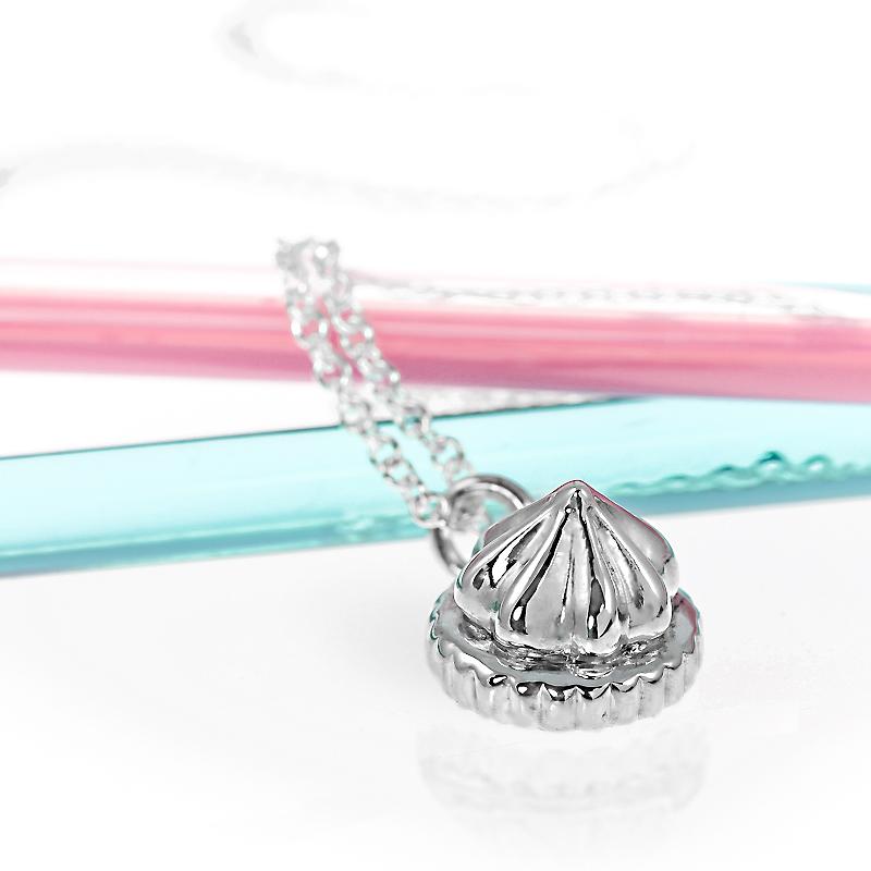 Sterling silver medium iced gem necklace handmade