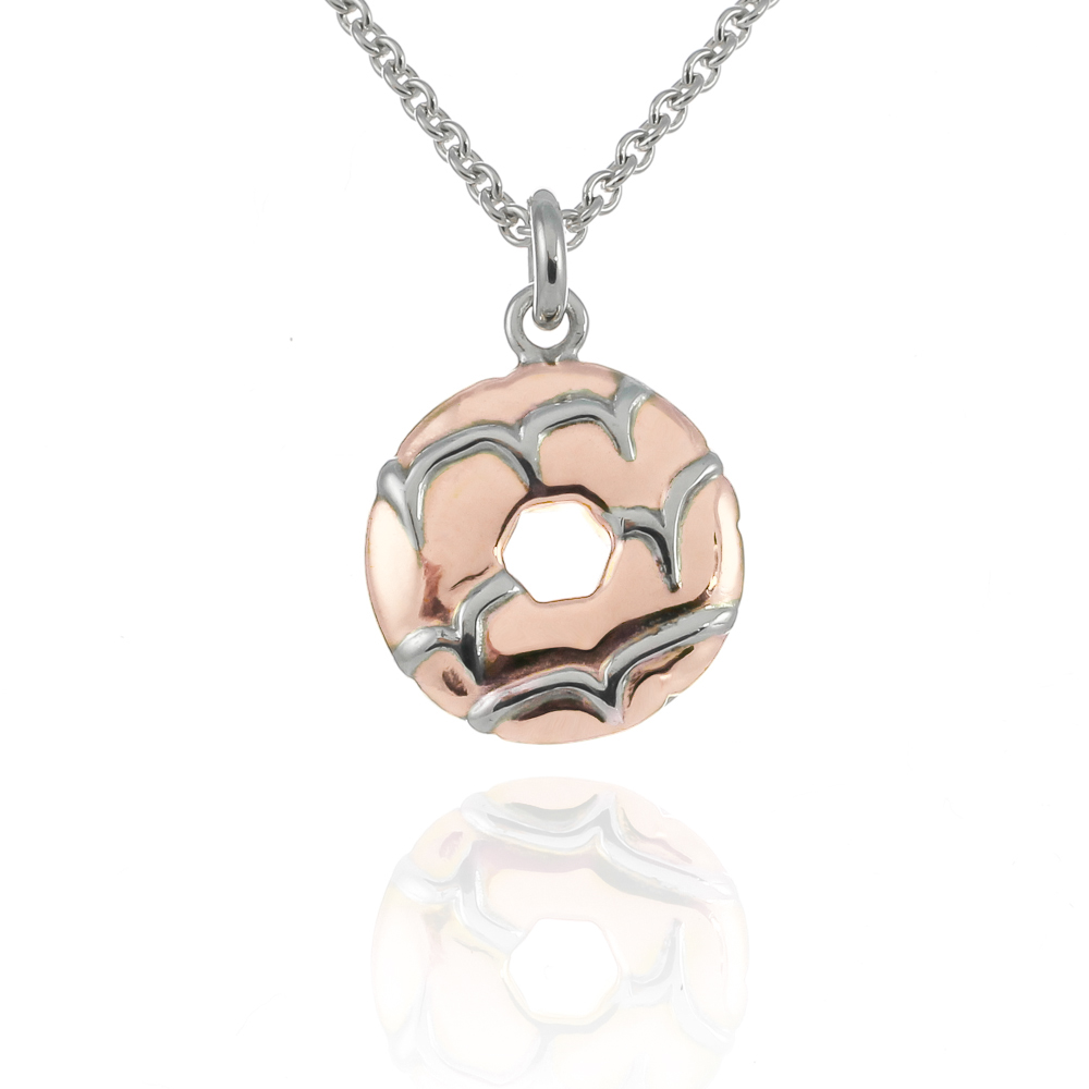 18 carat rose gold vermeil party ring biscuit necklace
