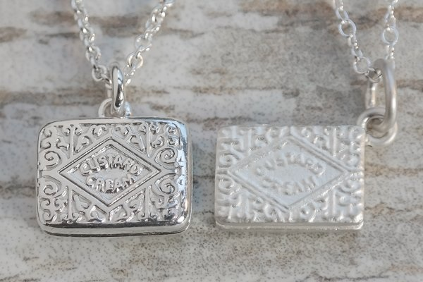 Silver custard cream necklace Lauren Grace Jewellery and Lily Charmed