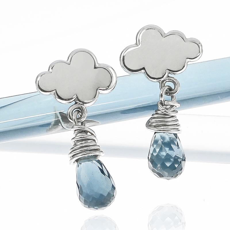 Sterling silver British weather mini raincloud earrings