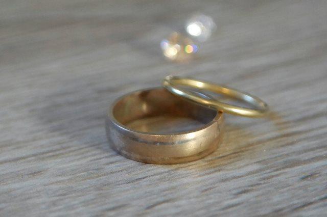 Eco-gold wedding rings work in progress
