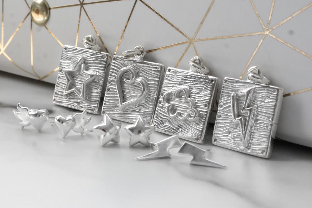Silver neon art jewellery work in progress