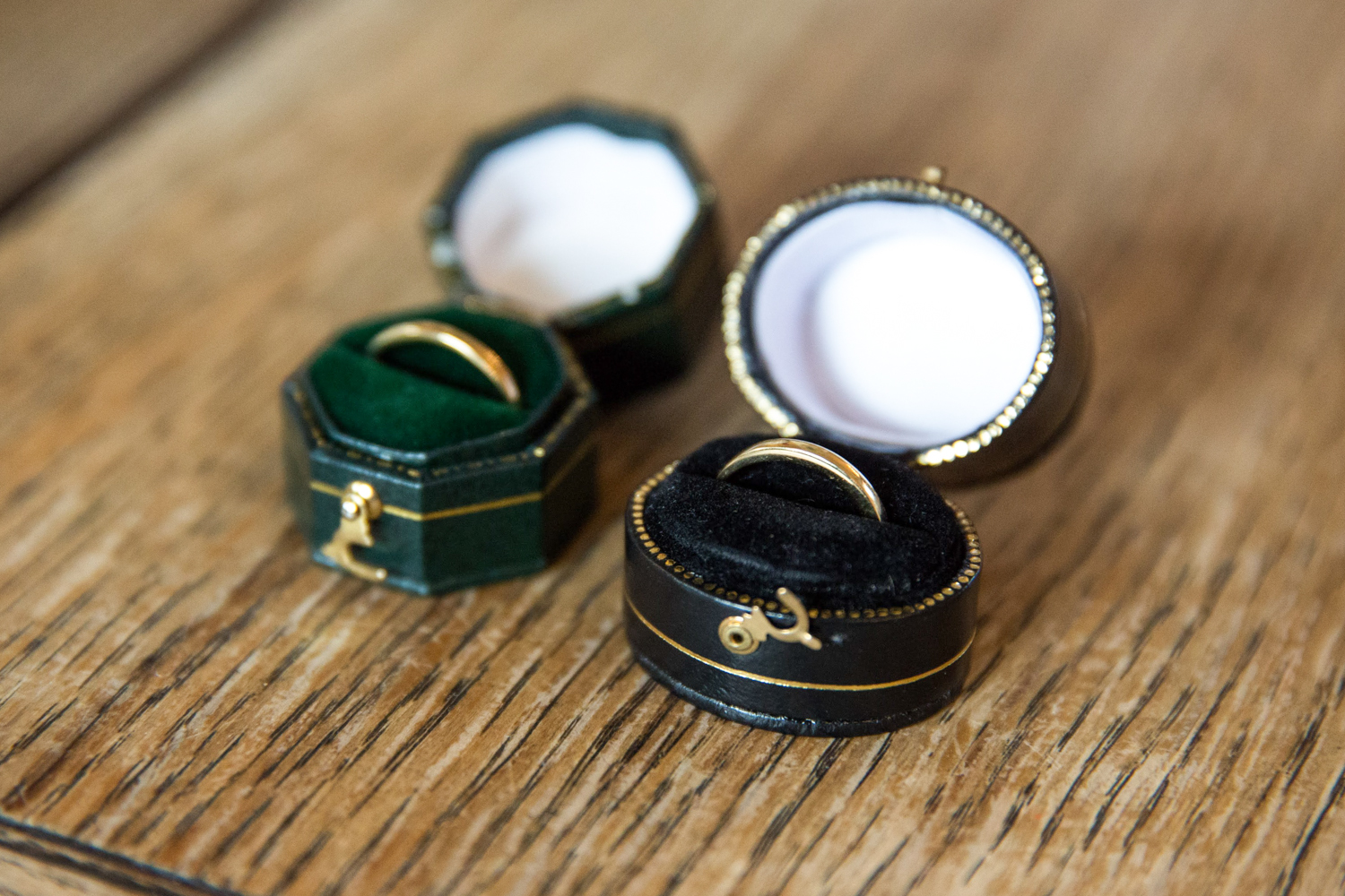 Amy and Hannah eco gold wedding rings