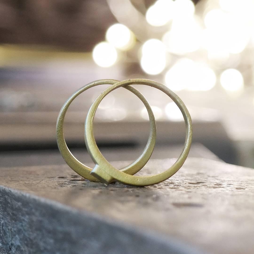 Eco gold cast wedding bands work in progress