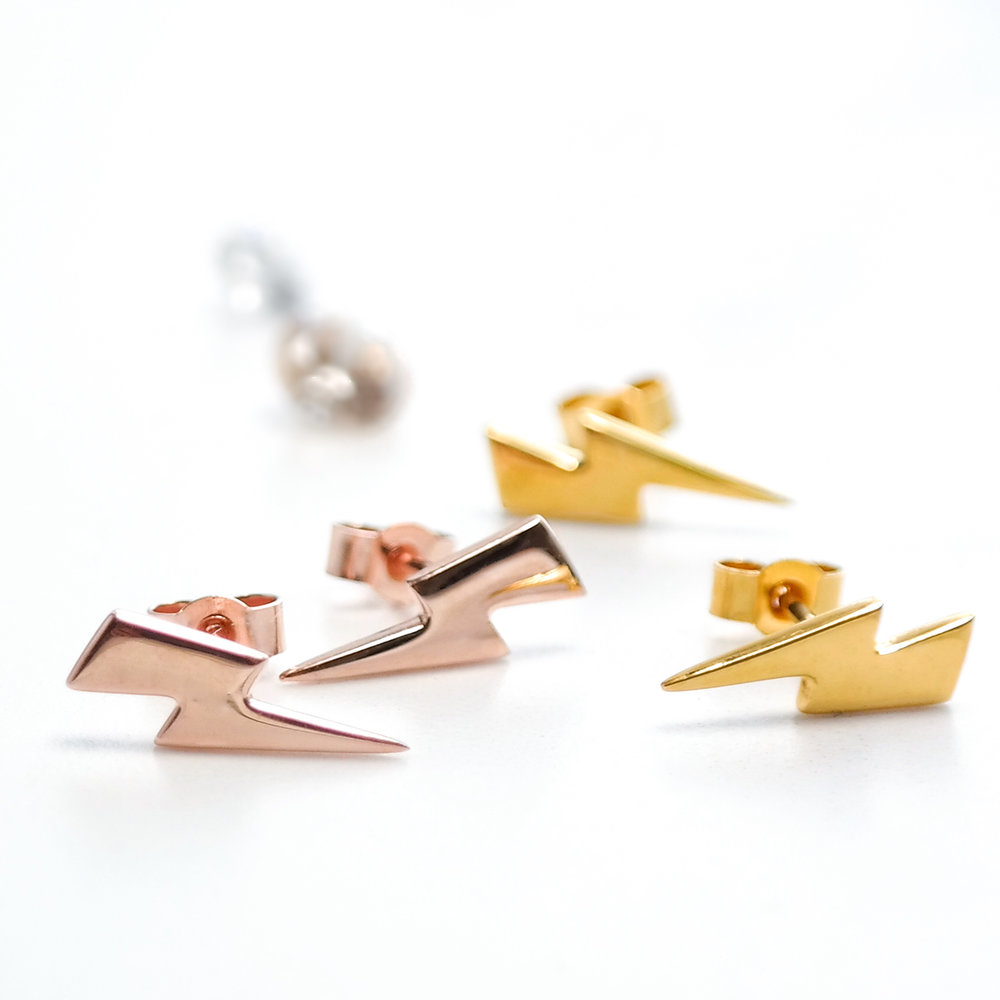 Lightning Bolt Earrings Lauren Grace Jewellery
