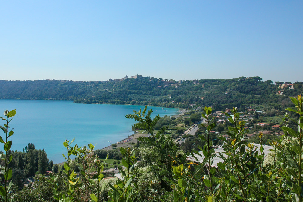View over Lake Albano, Italy
