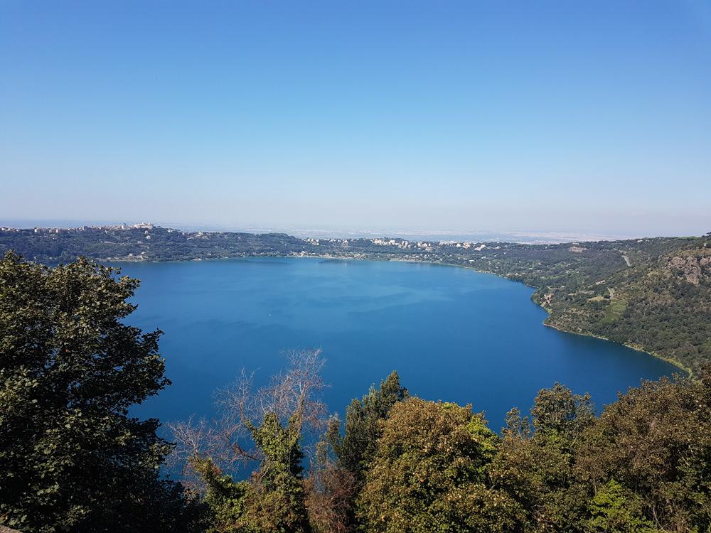 View over Lake Albano from Villa Palazzola