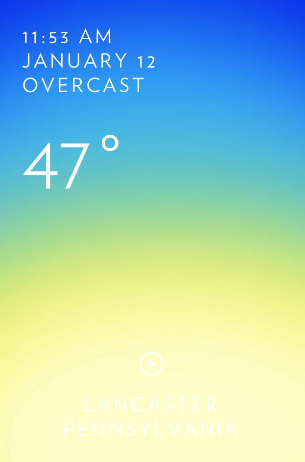 Solar weather app