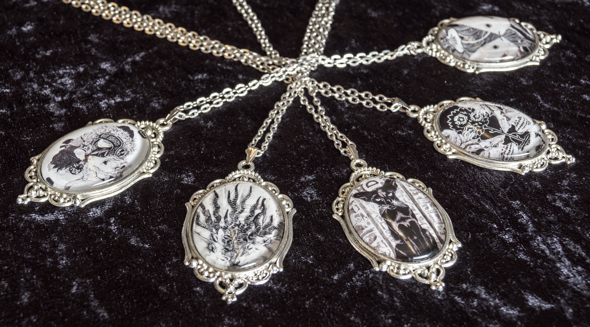 necklaces - Necklaces are made to order! They can be put in an ornate or simple setting and come in a gift box.