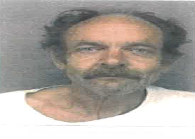 The booking photo for the man known as Larry Vanner, aka Curtis Kimball