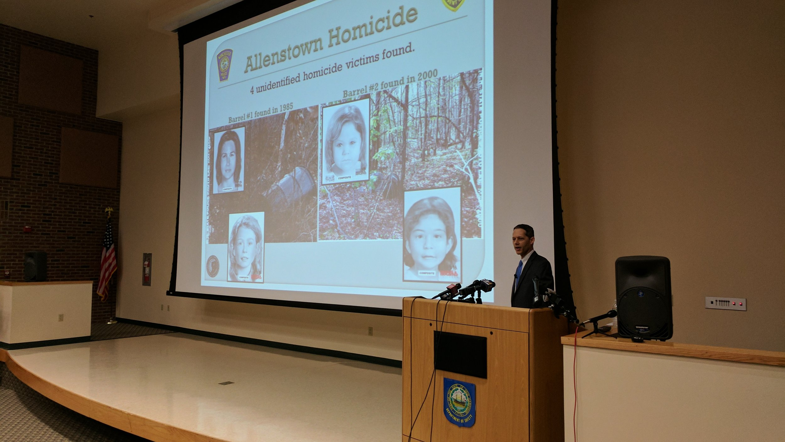 At a 2017 press conference, Senior Assistant Attorney General Jeff Strelzin announced that while the Allenstown victims were still unidentified, their killer was known.