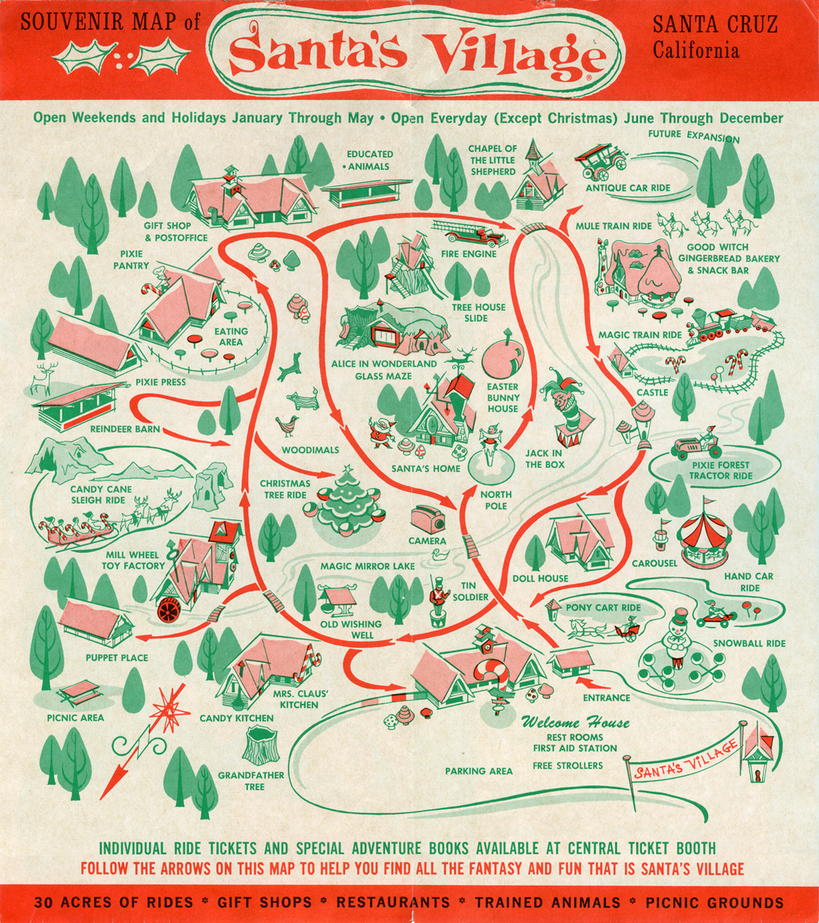 A brochure for Santa's Village, the theme park that used to stand on the site of the RV park where a man calling himself Robert Evans lived with Lisa, the girl authorities would later realize was not his daughter.