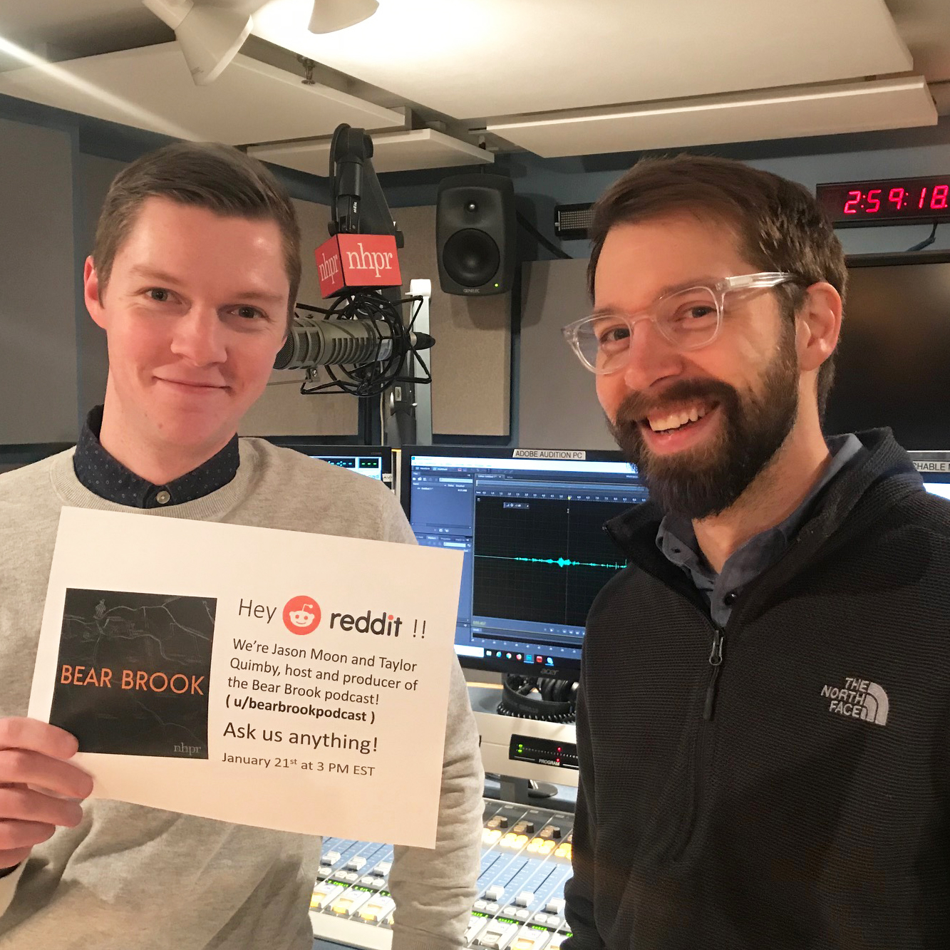 Jason Moon and Taylor Quimby pose for a   Reddit AMA   in January.