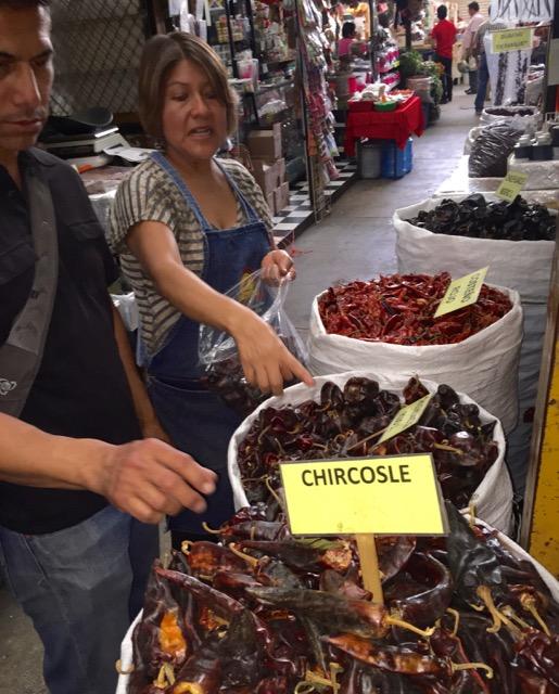 Javi at Oaxacan market