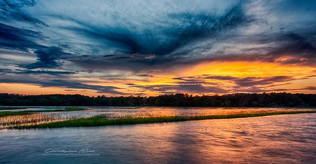 Huntington Colors - A sunset over the marsh at Huntington Beach State Park, shot several weeks ago. I tried hard to get something this weekend but with rain and thunderstorms I came up short.⠀⠀ -⠀⠀⠀⠀⠀⁣⠀⠀⠀⠀ -⠀⠀⠀⠀⠀⁣⠀⠀⠀⠀ -⠀⠀⠀⠀⠀⁣⠀⠀⠀⠀ 📷 Nikon D750 | 18mm | ƒ/20 | HDR | ISO 50⠀⠀⠀⠀⠀⠀⁣⠀⠀⠀⠀ -⠀⠀⠀⠀⠀⠀⁣⠀⠀⠀⠀ -⠀⠀⠀⠀⠀⠀⁣⠀⠀⠀⠀ -⠀⠀⠀⠀ #huntingtonbeachstatepark #sunset #southcarolina #naturephotography #scphotographer #nikon #benrousa #sigmaphoto⁣ #explorecarolina #YourShotPhotographer #nikonartists #discover_carolinas #sunsets #southcarolinawater #chasingsunsets #exploretocreate #sunset_hub #onlyinsouthcarolina #scstateparks #clouds #saltmarsh #grandstrand #reflections #longexposure #waterscape #landscapephotography #lowcountry #sky_brilliance⠀⠀