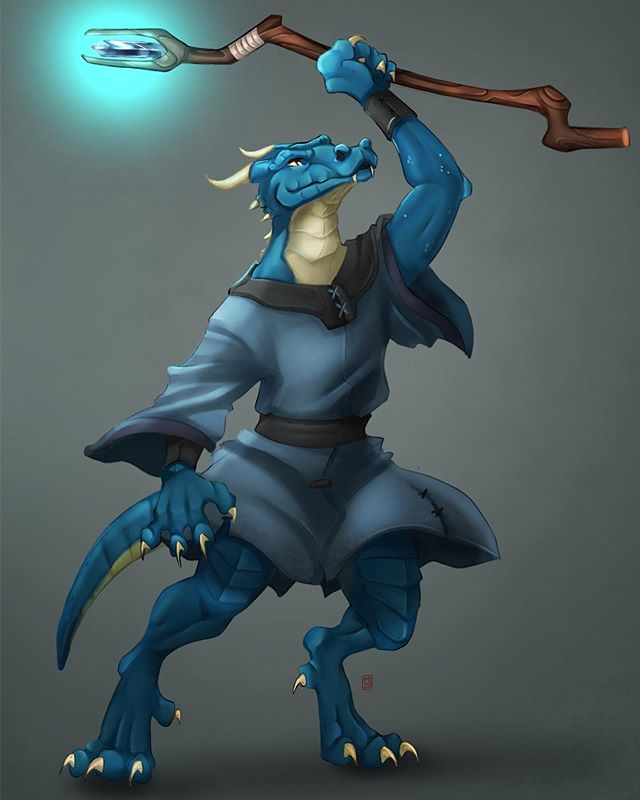 Meet Zaps the lightening sorcerer kobold! A commission piece from twitter. . . . #kobold #dnd #dndcharacter #dnd5e #tabletopgame #tabletoprpg #dungeonsanddragons #fantasyartist #fantasyart #characterart #digitaldrawing #illustragram #illustrator #freelance #characterdesign #kobolds