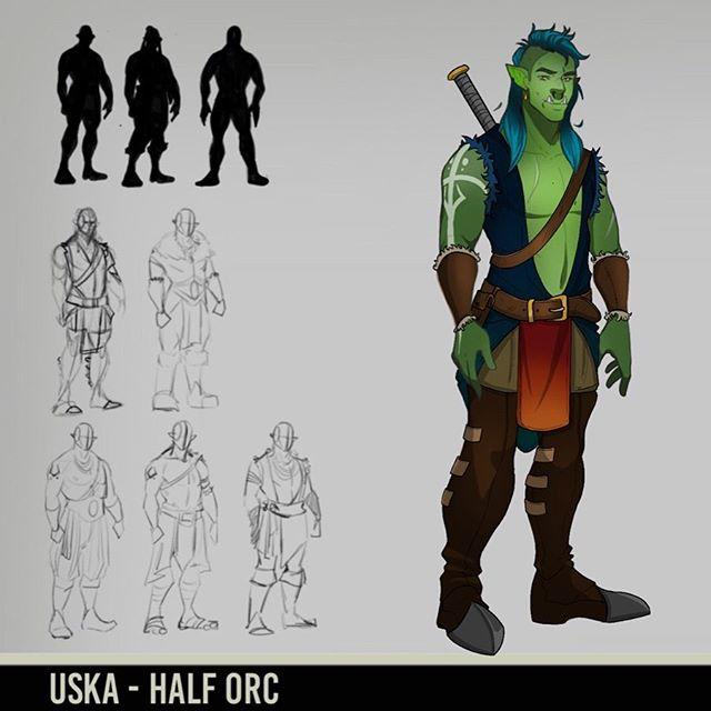 Uska the Half Orc! He's a bit small for a half orc but trust me. He's just as strong! A fun concept I did in my down time. . . . #orcs #digitalart #digitaldrawing #fantasy #fantasyartist #fantasyart #dungeonsanddragons #dungeonsanddragonsart #dnd5e #dndcharacter #characterart #charactersheet #characterdesign #characterreference #characterrefsheet #digital_art #illustragram #illustrator #artoftheday #artistlife #artistsoninstagram #artistofinstagram