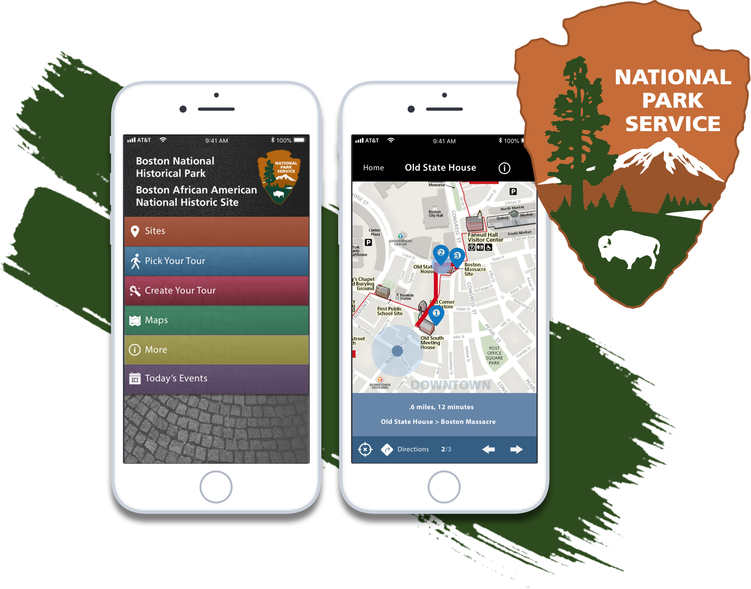 National Park Service App Boston (iOS) - Implemented additional features to the NPS Boston native application to accommodate planning of group trips.