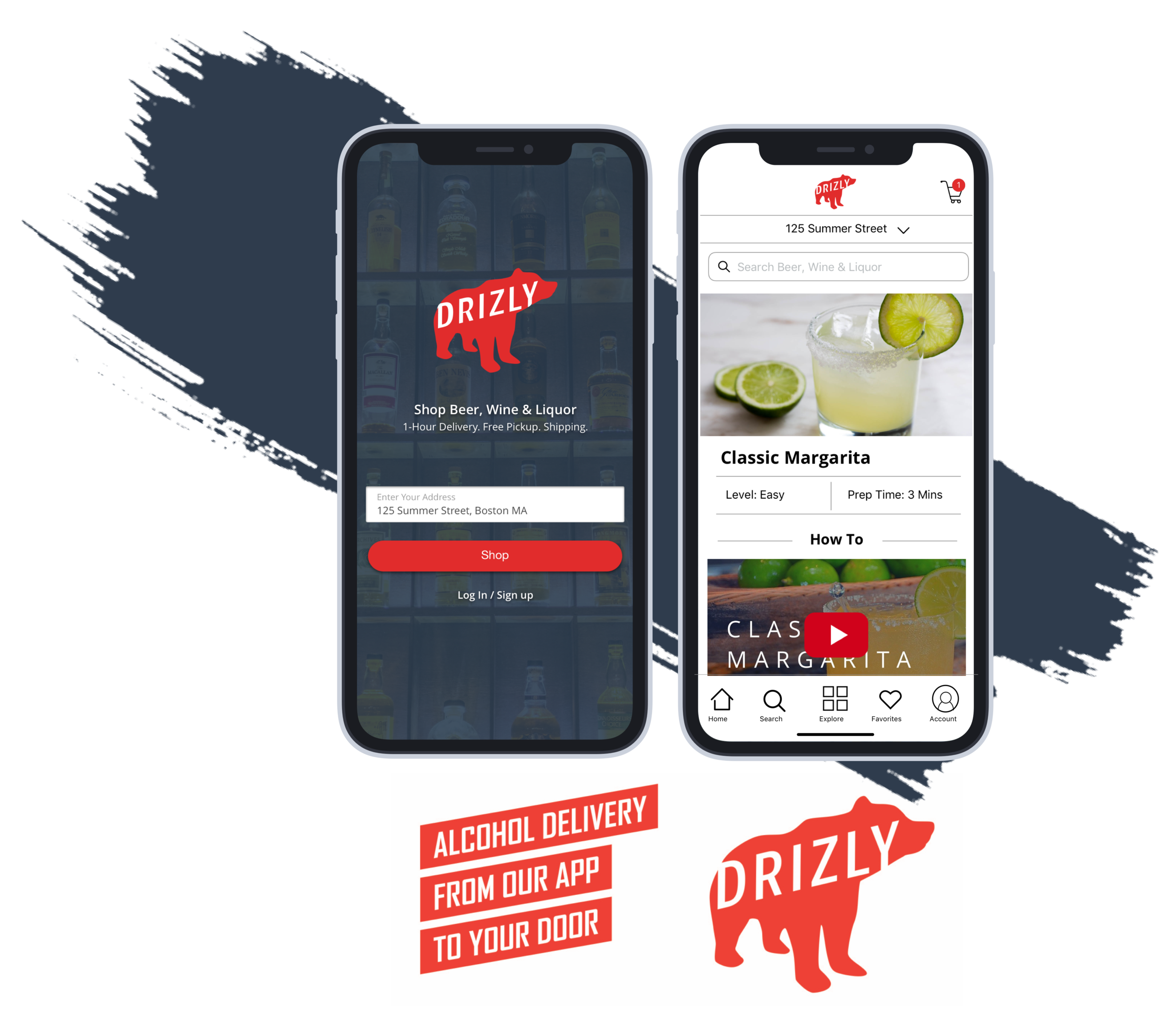Drizly - Alcohol Delivery Marketplace - Reconstructed Drizly's recipes pages from web to mobile app. Focused on getting mobile web users to convert to using the mobile app for a full personalized experience and to increase sales conversions.
